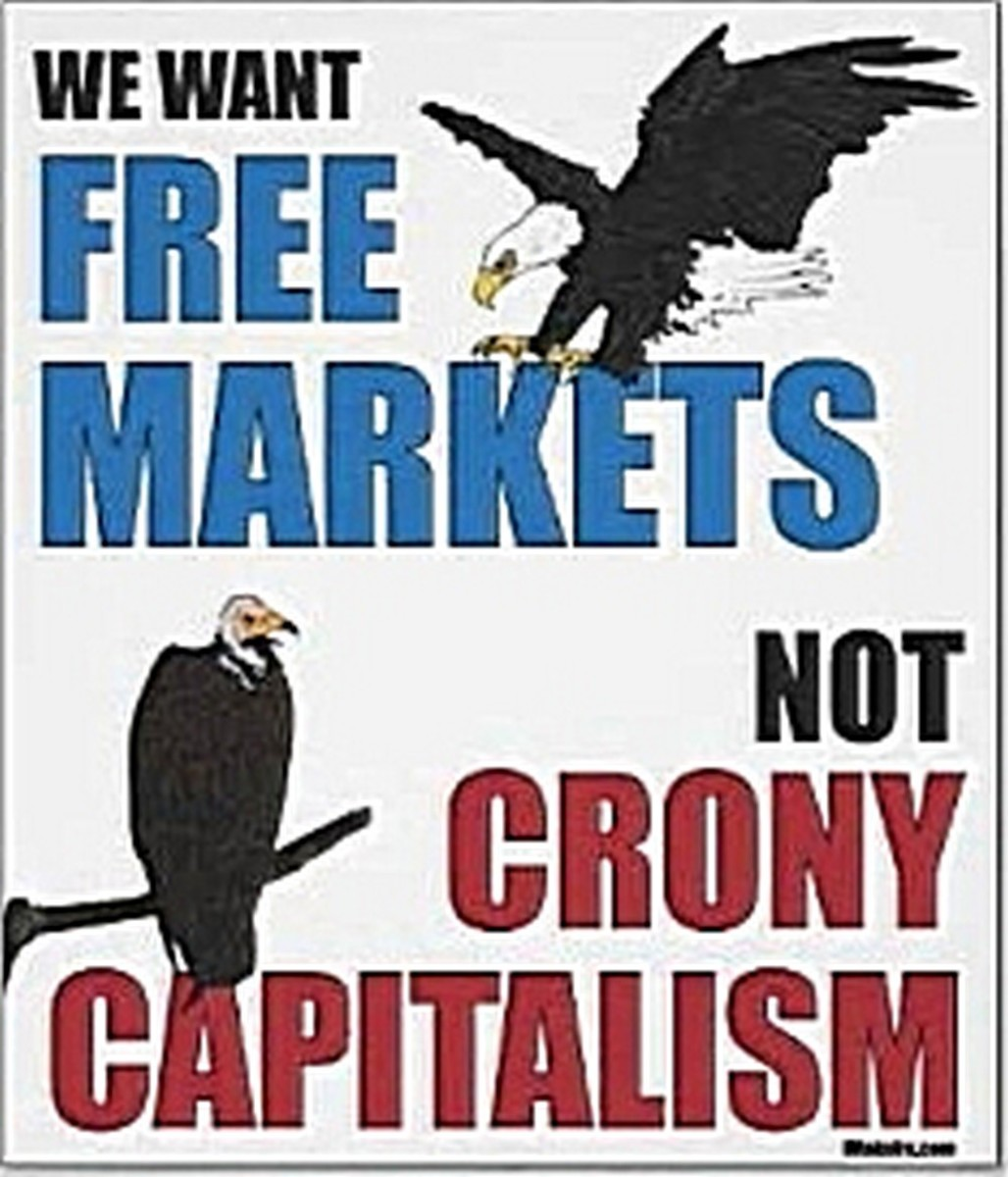 "When libertarians say ""capitalism"" they don't mean crony capitalism, statist capitalism, corporatist capitalism, government-regulated capitalism, Marxist-defined capitalism, they mean literally FREE markets."