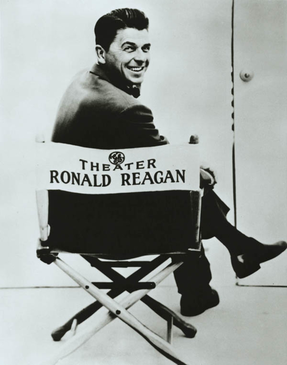 Ronald Reagan when he worked for the General Electric Theater during 1953 to 1962.