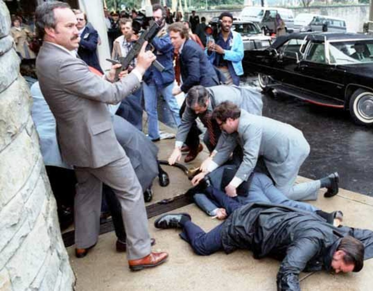 Assassination attempt on President Ronald Reagan.