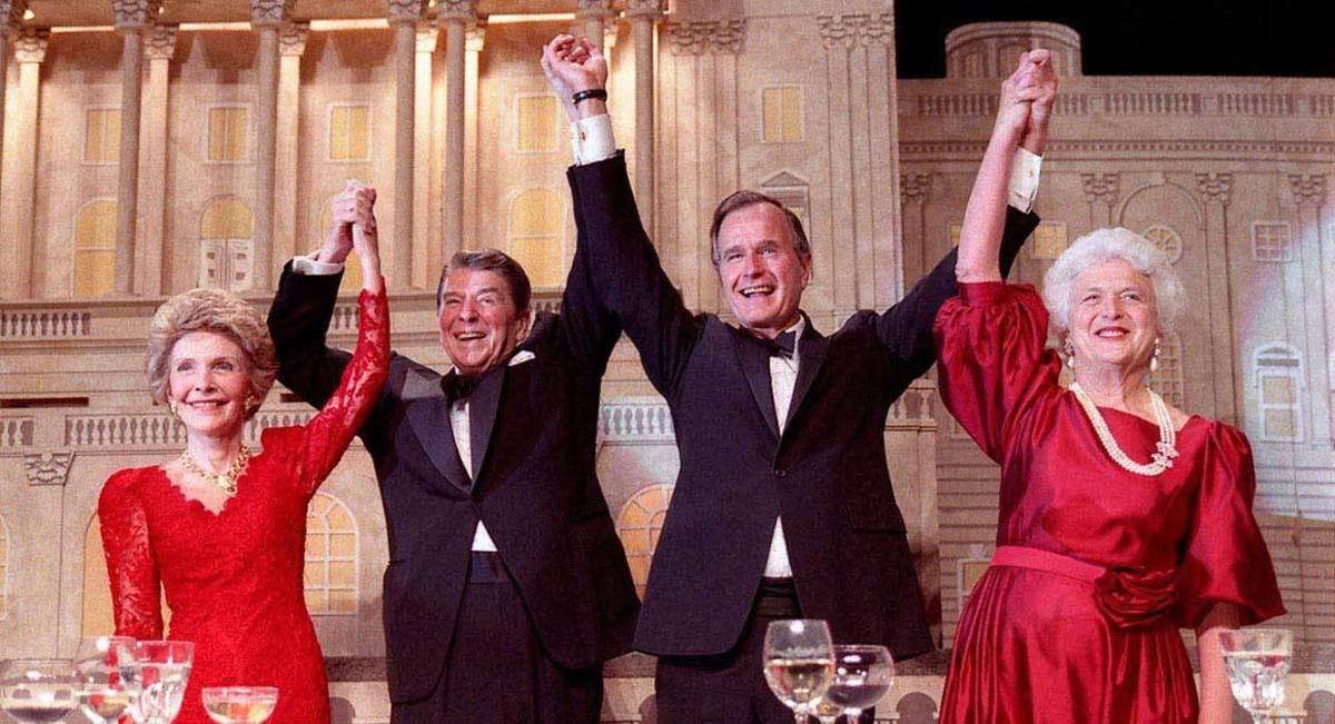 Reagan endorses George H.W. Bush to succeed him in 1988.