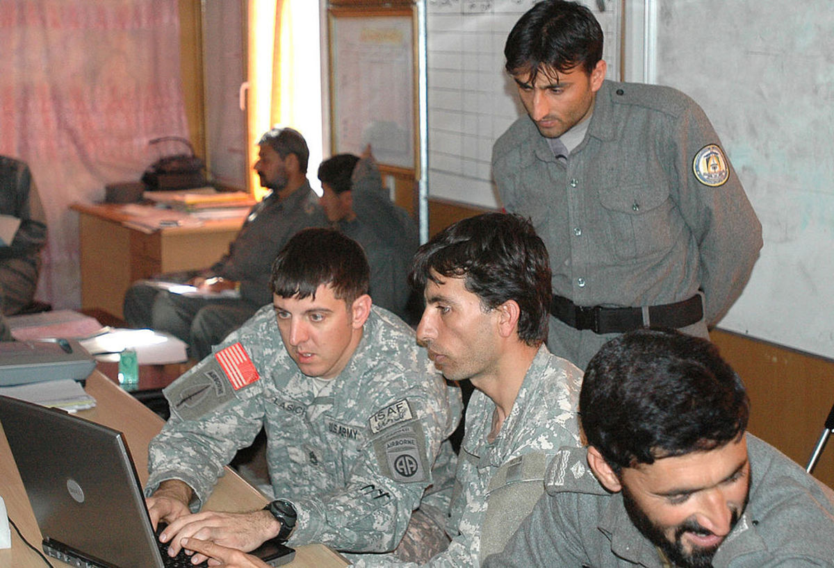 Assisting Afghan National Police with a map reading program