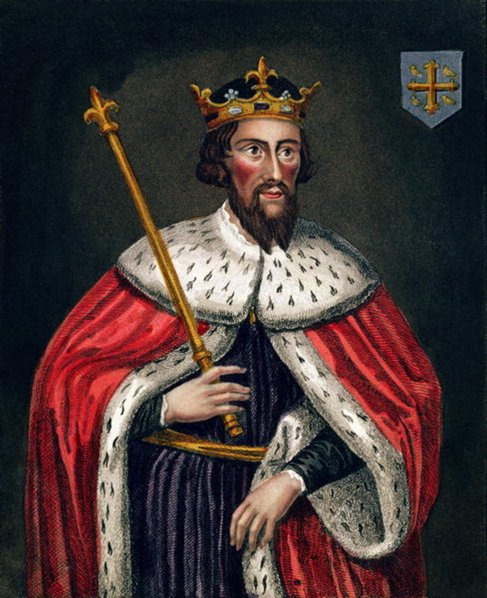 "England's King Alfred hanged 44 judges in one year for handing out ""false judgements."""
