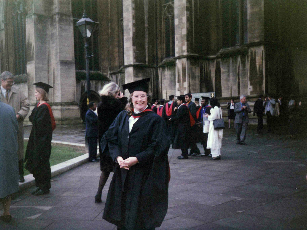 My wife just after her graduation from university.