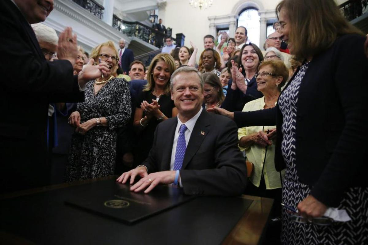 Governor Charlie Baker Signs Equal Pay Legislation in August, 2016
