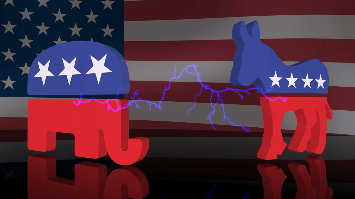 The two animals represent the Republican and Democratic parties and in 2020, the election will be won by the party that gets the most Electoral Votes.