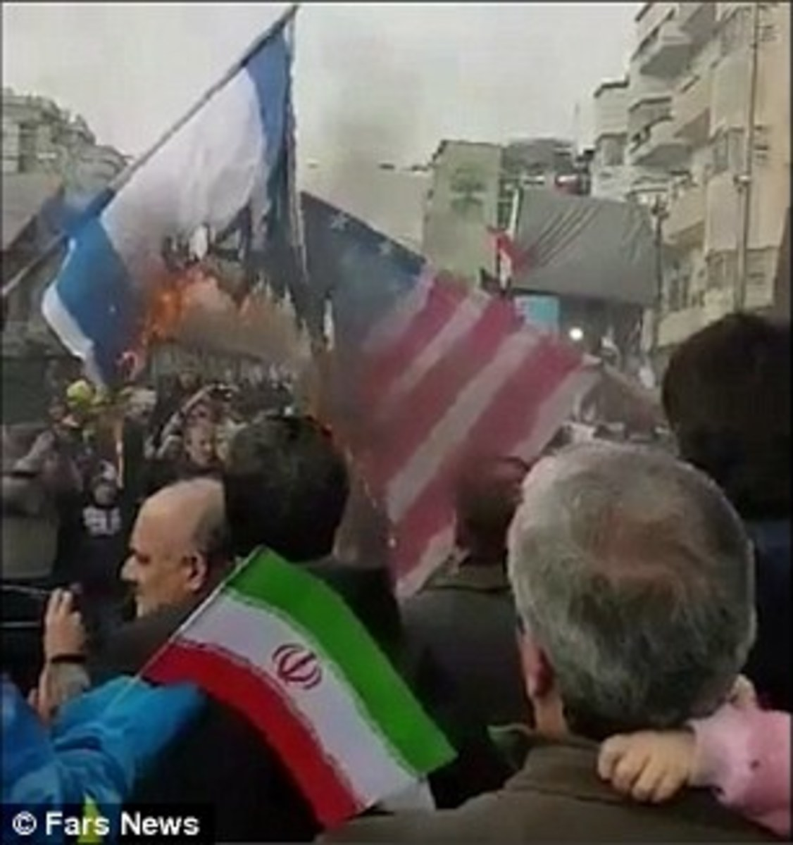 U.S. and Israeli flags were burned at rallies in the streets of Tehran, Iran recently.