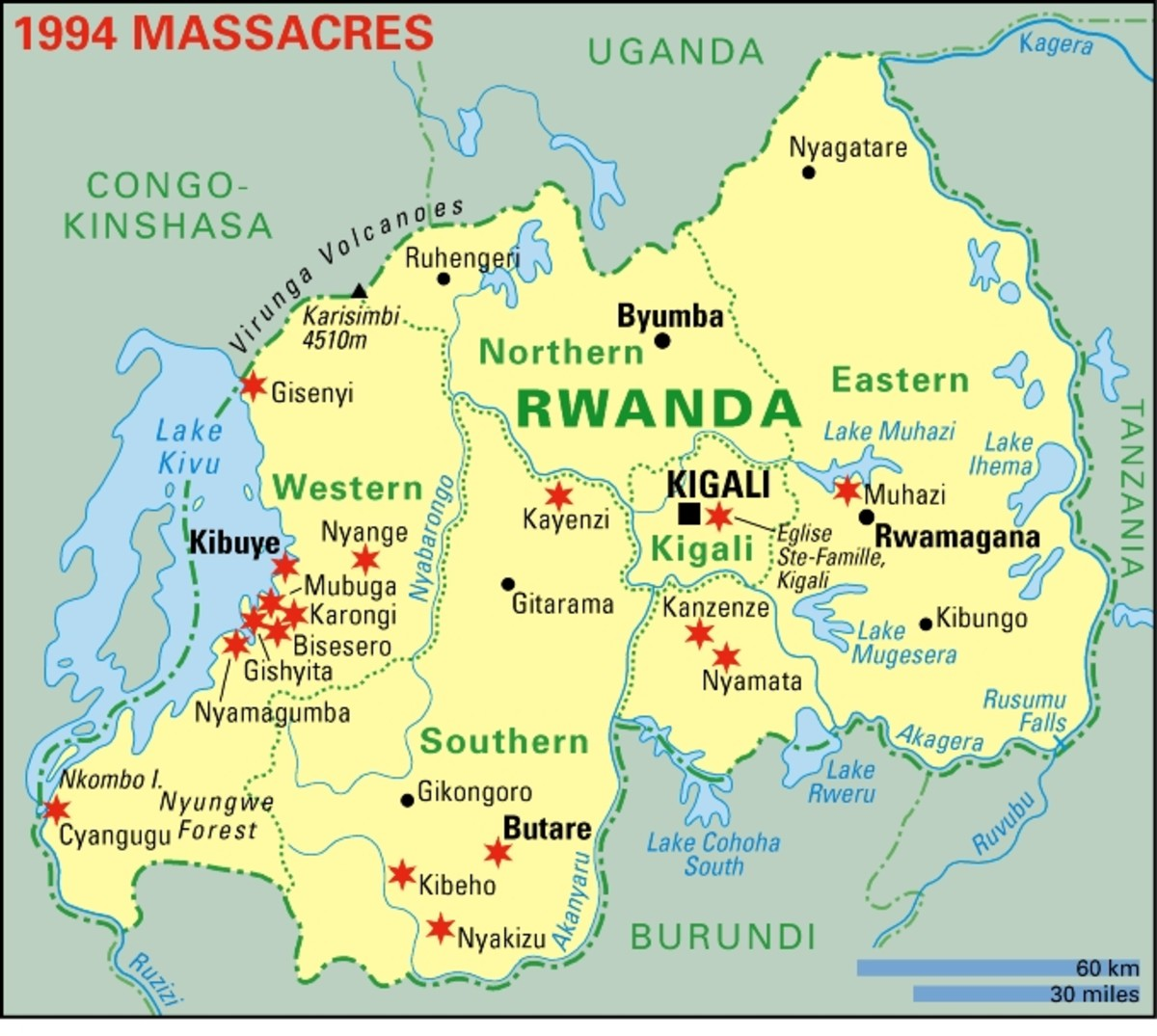 "Hutus who refused to go along were murdered, too. A Hutu-controlled radio station repeatedly urged the nationwide slaughter, shouting ""The graves are not yet full!"""