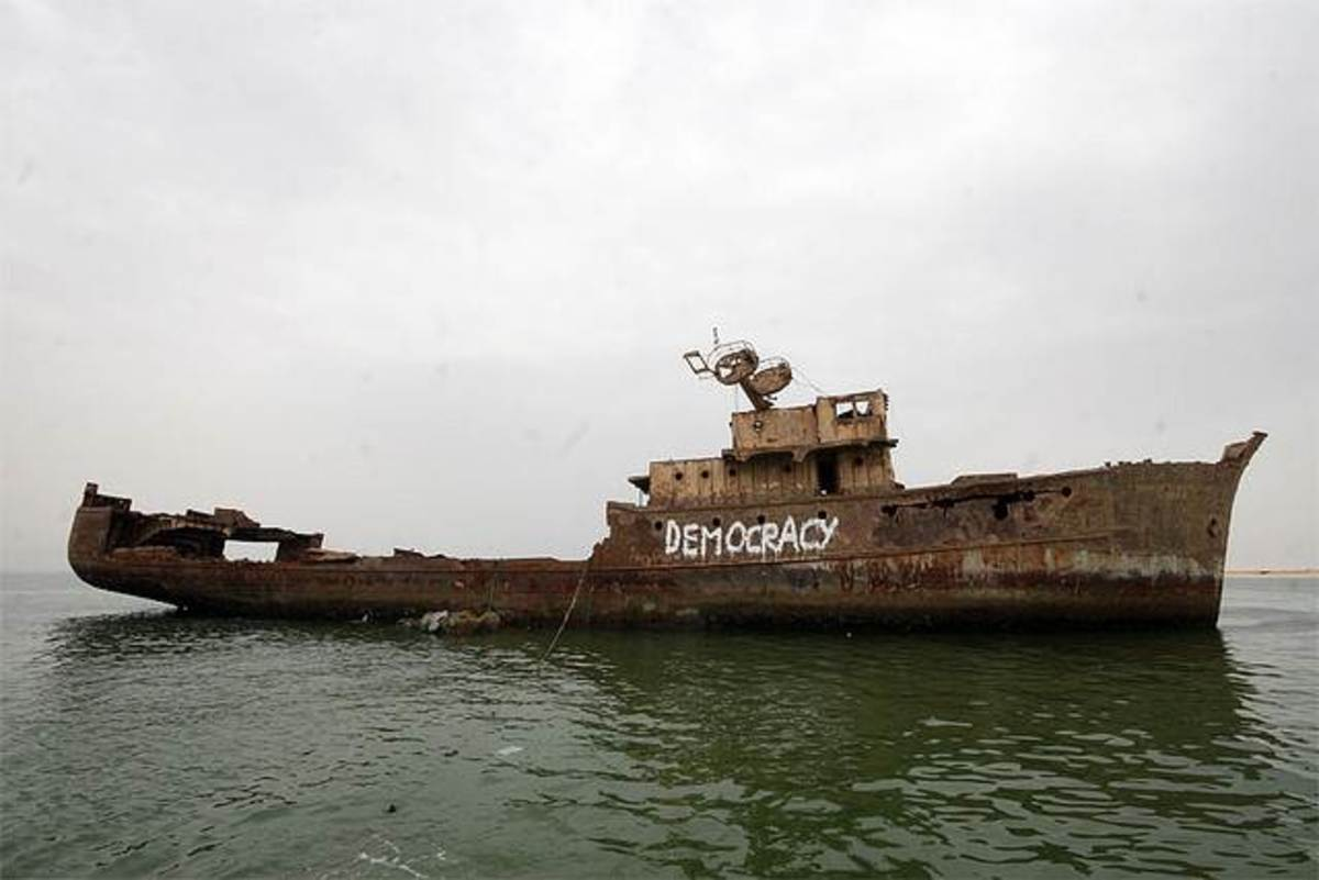 Sometimes the ship of state is a wreck.