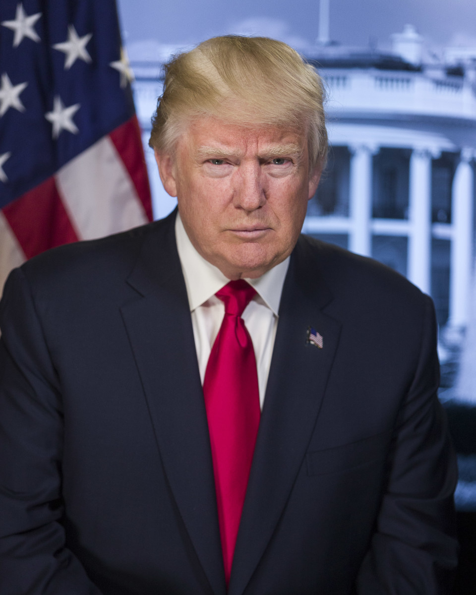 Photo from upload.wikimedia.org/ wikipedia/commons/5/56/ Donald_Trump_official_portrait.jpg