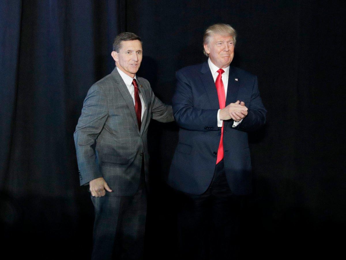 Michael Flynn and Donald Trump