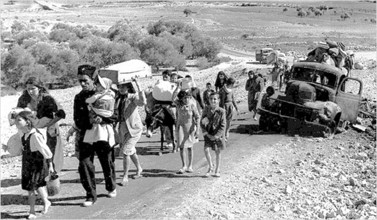 Palestinian Refugees Fleeing Their Homes