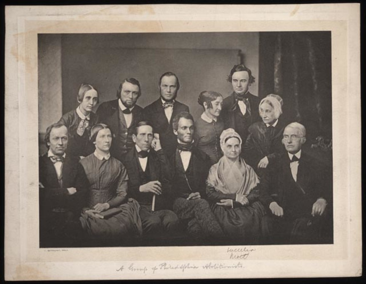 A Group of Philadelphia Abolitionists with Lucretia Mott [seated second from the right].