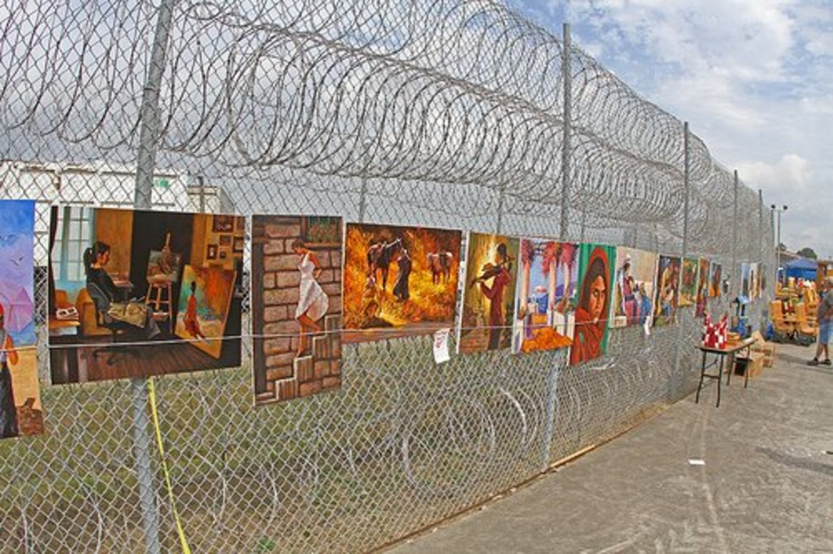Convicts have artwork for sale at many of the rodeos.