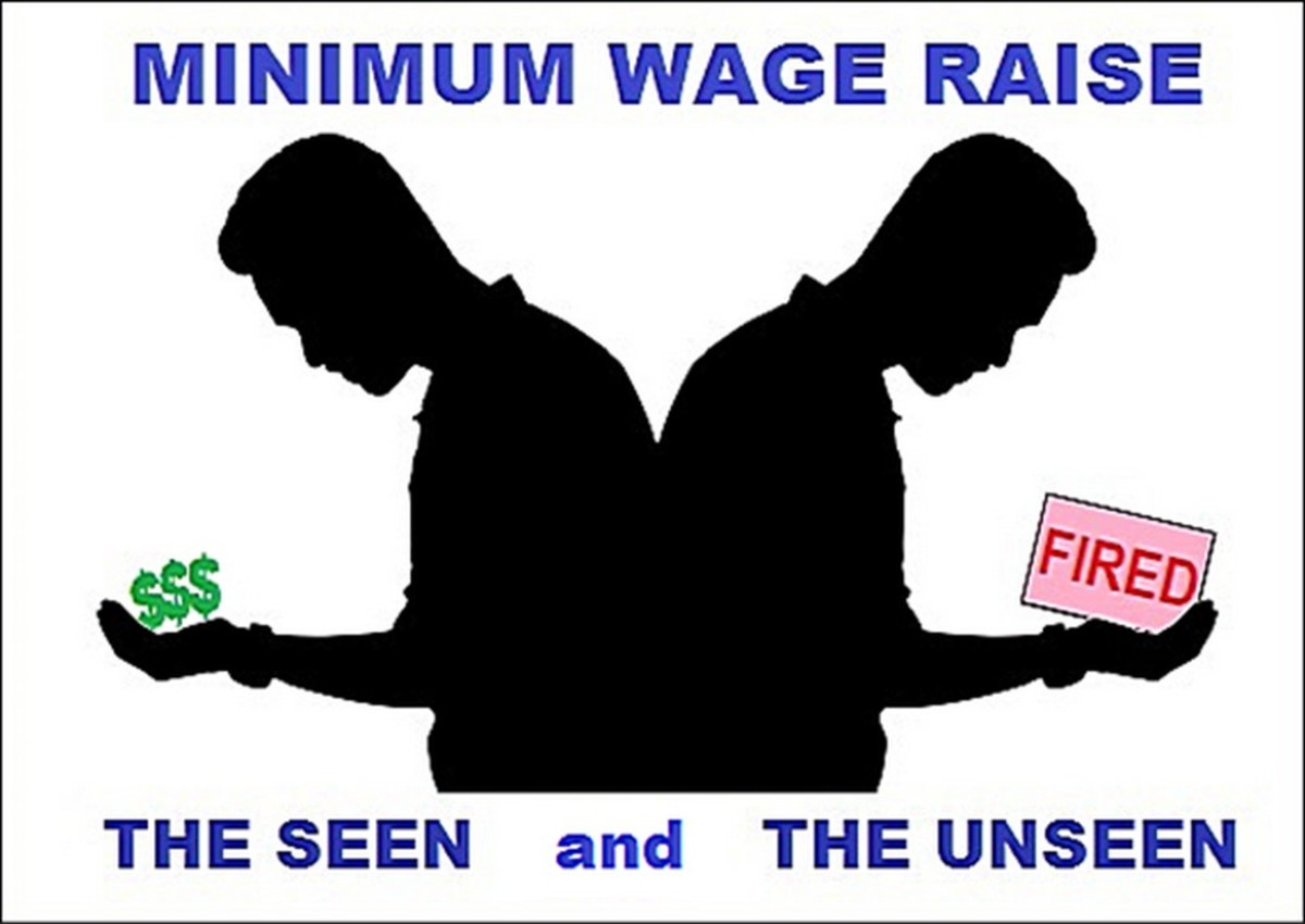 It's easy to champion the minimum wage when you're blind in one eye