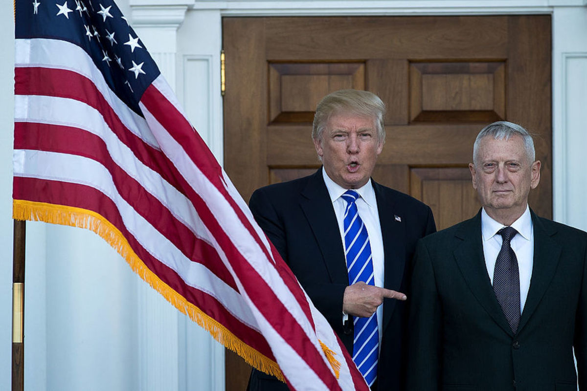 President Donald Trump with Secretary of Defense James Mattis before the retired general was confirmed.