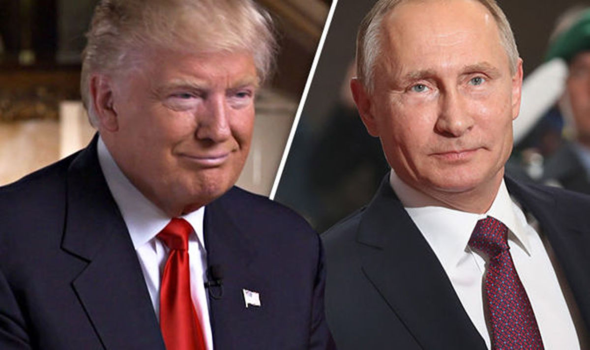Presidents Donald Trump and Vladimir Putin