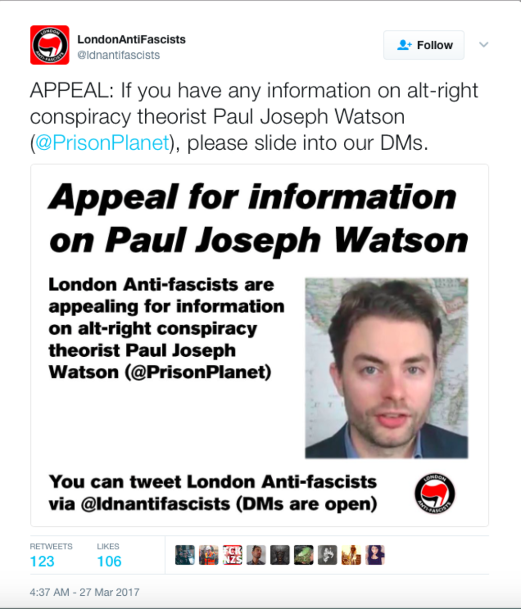 twitter-allows-antifa-to-threaten-fake-news-journalist-paul-joseph-watson