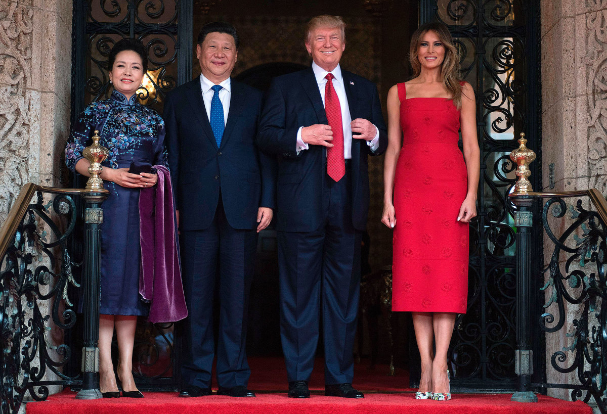 Presidents Xi Jinping of China and Donald Trump of the US on Friday.