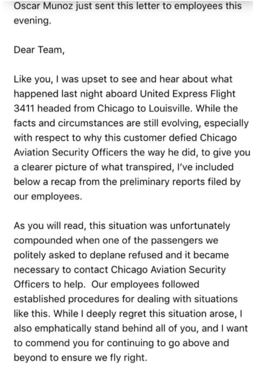United Airline email