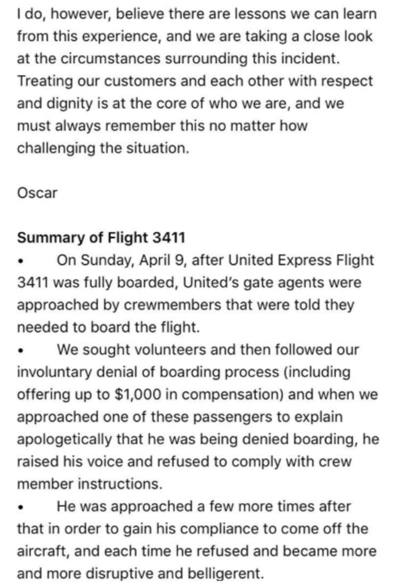 United Airlines email