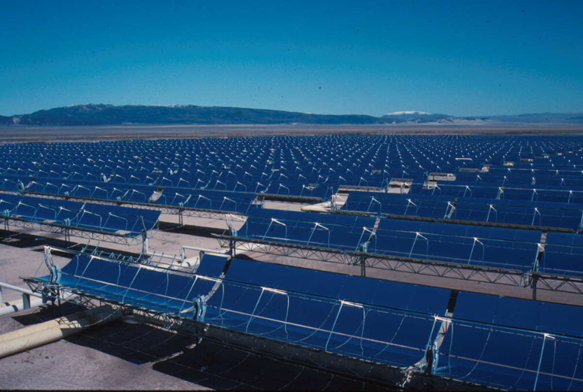 Solar plant near San Bernardino