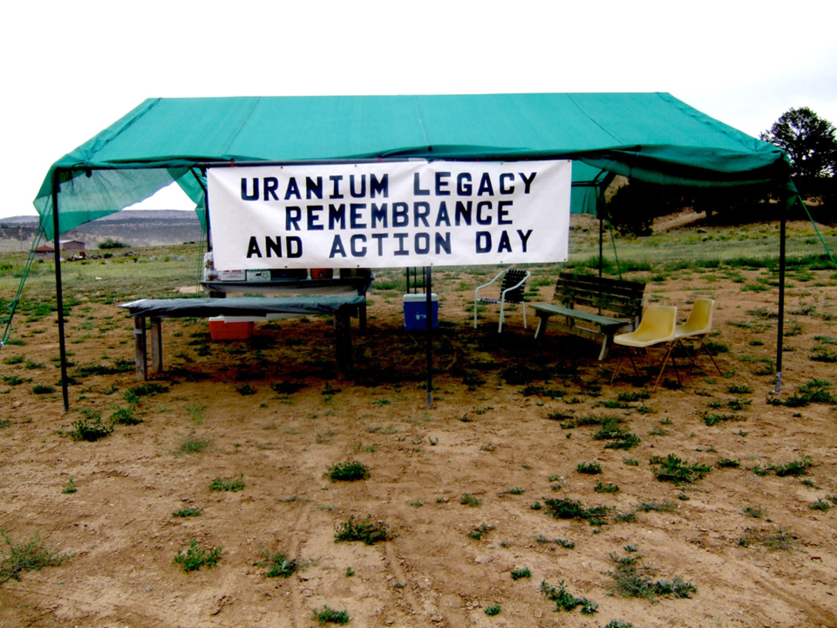 Uranium Legacy Remembrance and Action Day near the Church Rock Spill site.