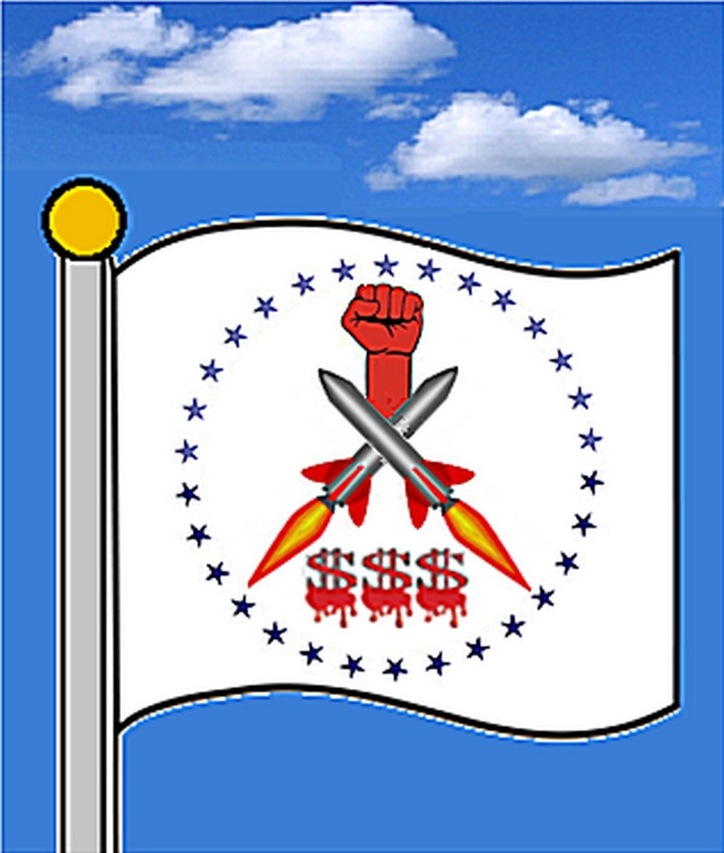 Proposed flag for the State of Columbia, host to the most powerful and wealthy force on earth.