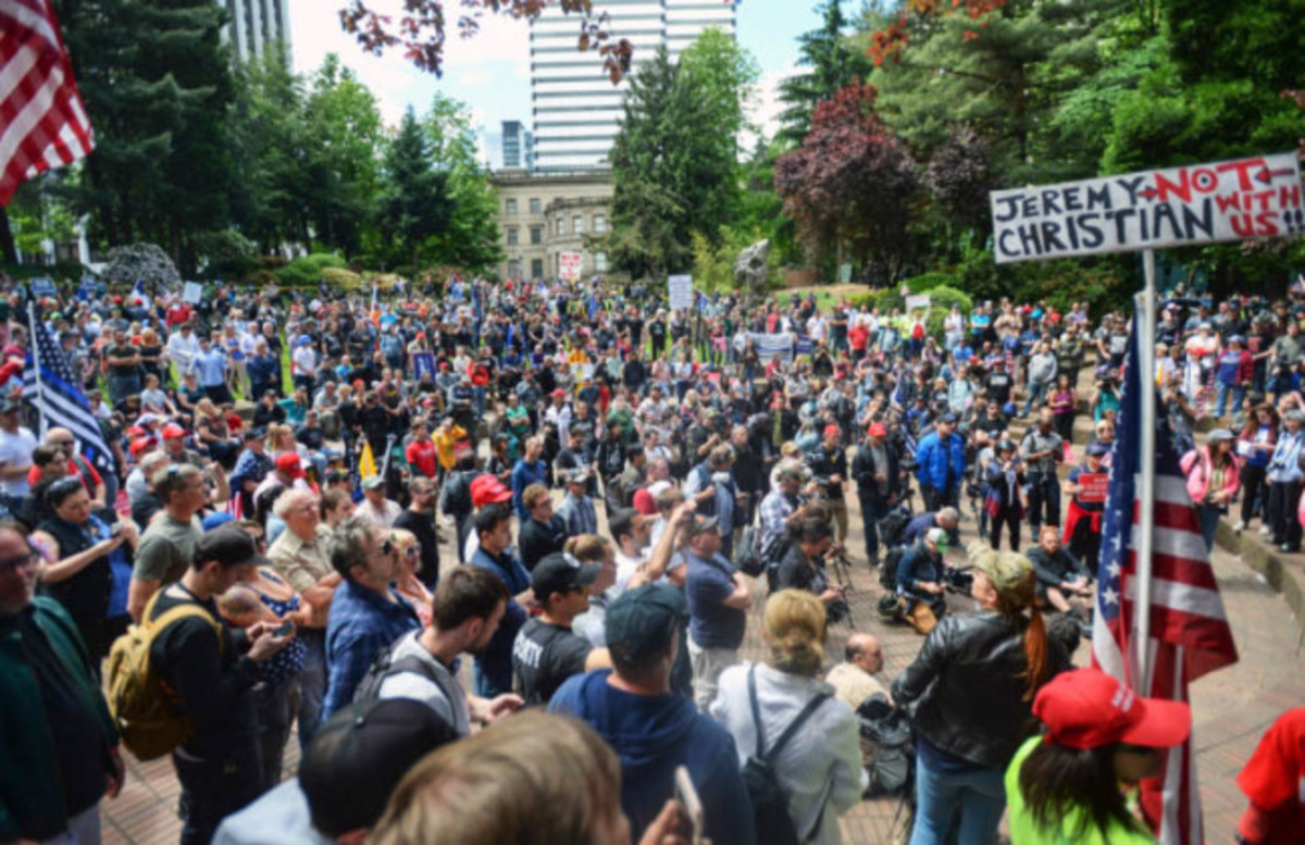 The west coast, like in Portland here, has seen many confrontations between opposing sides passionate about their worldviews and the actions happening because of them.  This has caused some violence to occur.