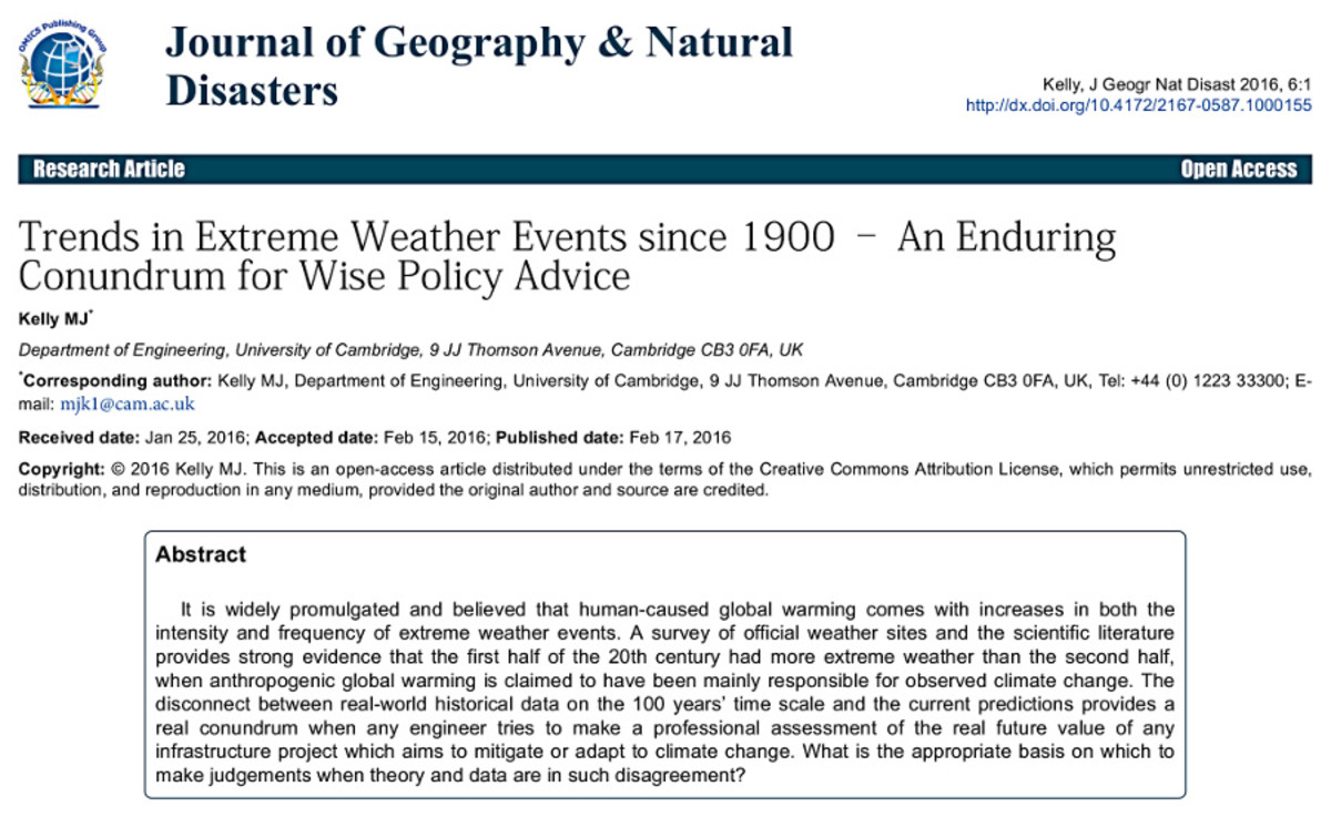 Picture of JOURNAL OF GEOGRAPHY & NATURAL DISASTERS, 2016, 6:1 article page.