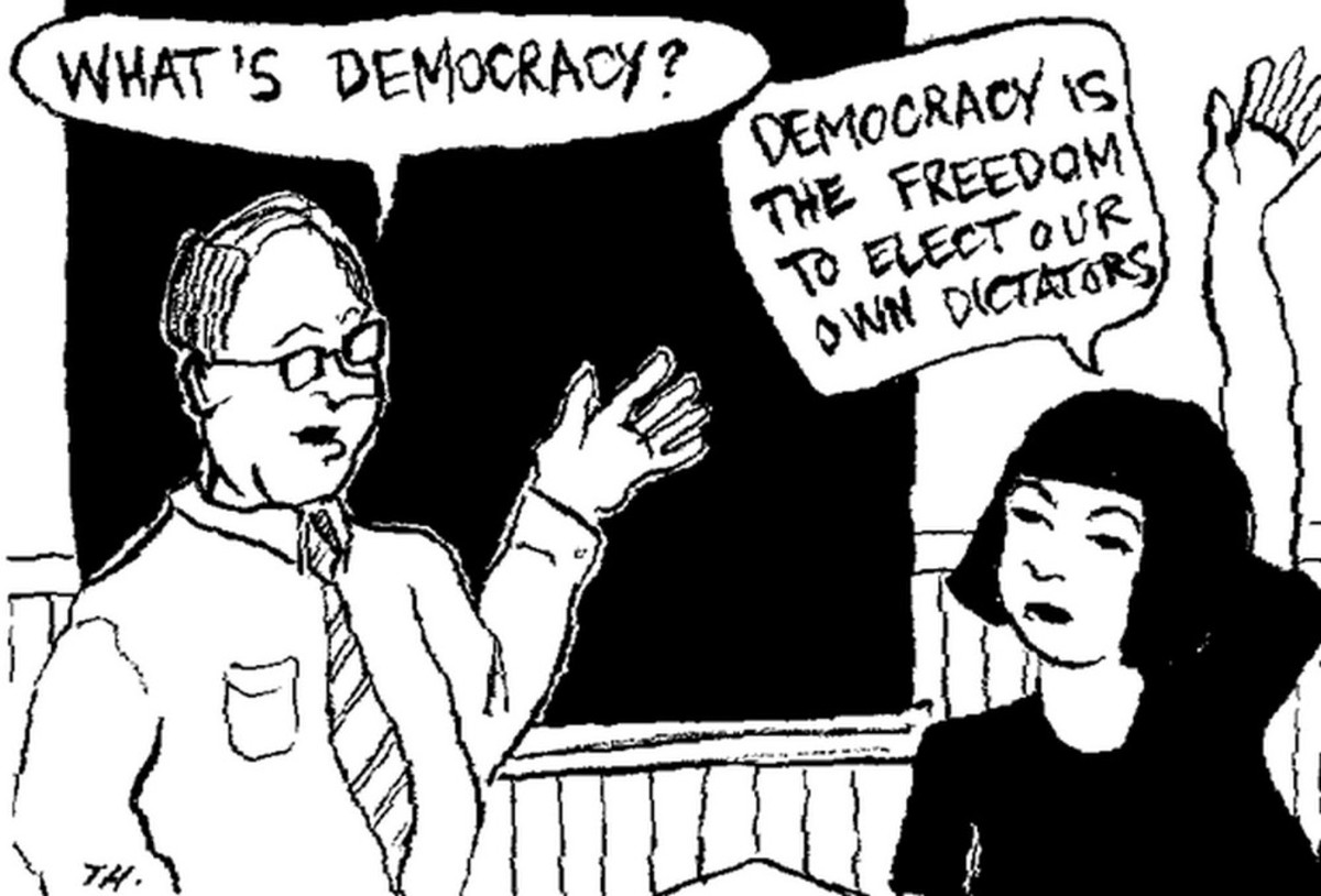 Not understanding the reality of democracy leaves one hopelessly naive.