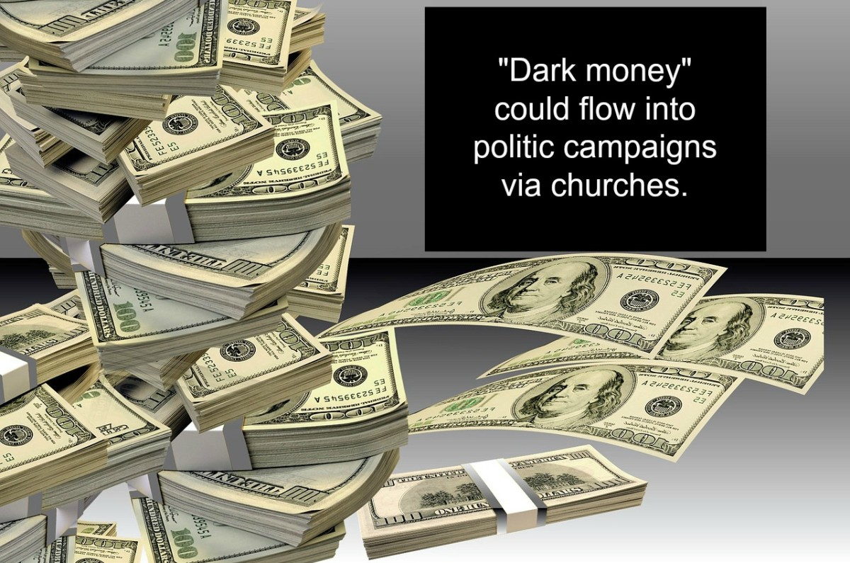 The Johnson Amendment prevents large sums of anonymous money (dark money) from flowing into politic campaigns.