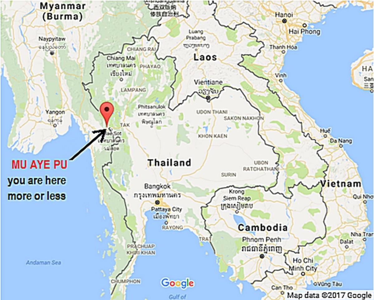 Village of Mu Aye Pu, not exactly on the beaten path.
