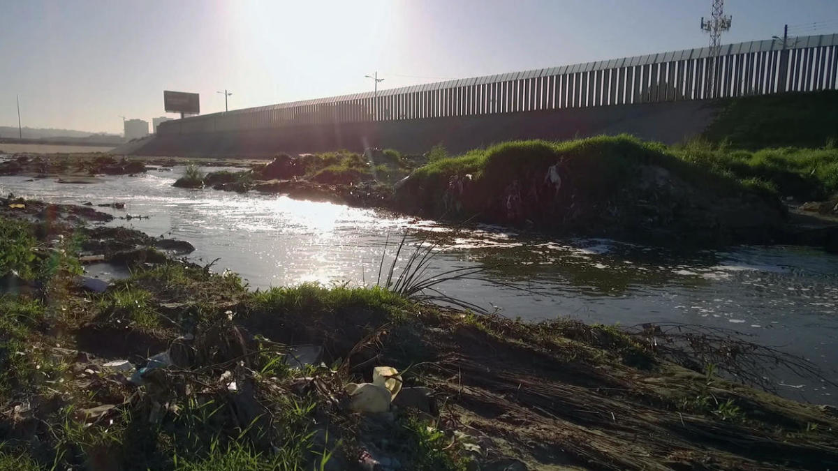 The polluted Tijuana River