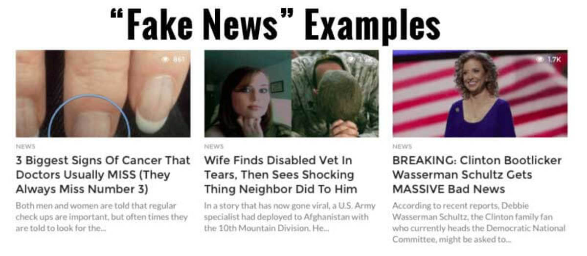 A common form of fake news/ click-bait ploy