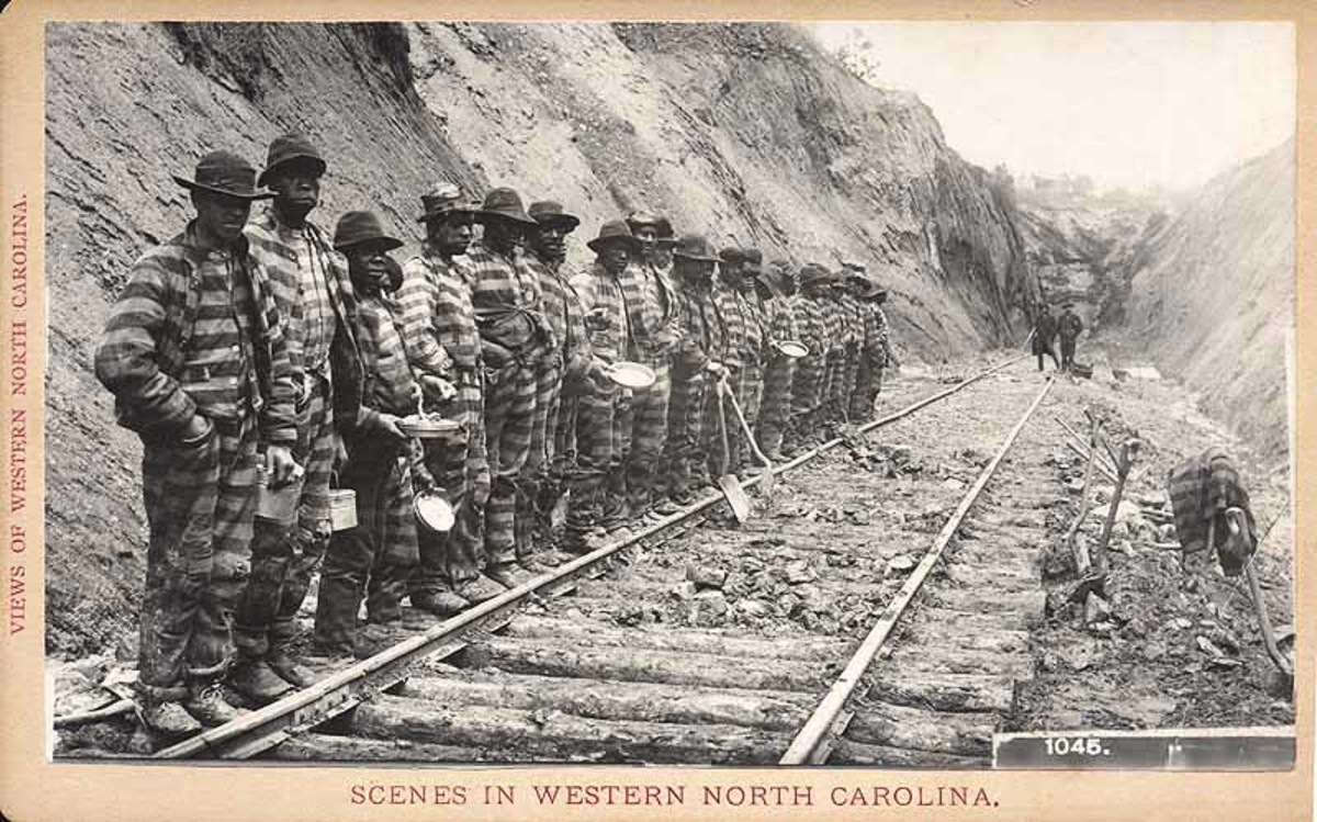 some prisoners were kept on chain gangs and treated like slaves
