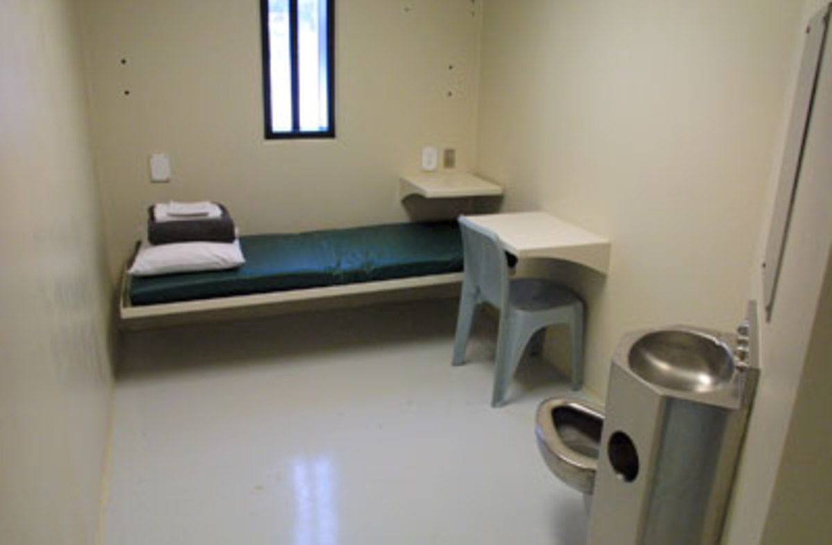 a single person cell (most cells have two beds)