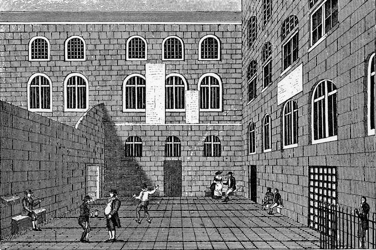 an early prison yard