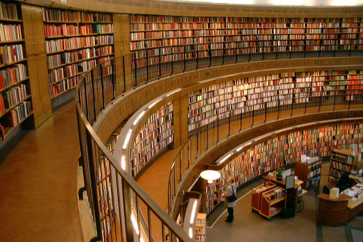 The rotunda of this library is reminiscent of the architecture of some federal penitentiaries.