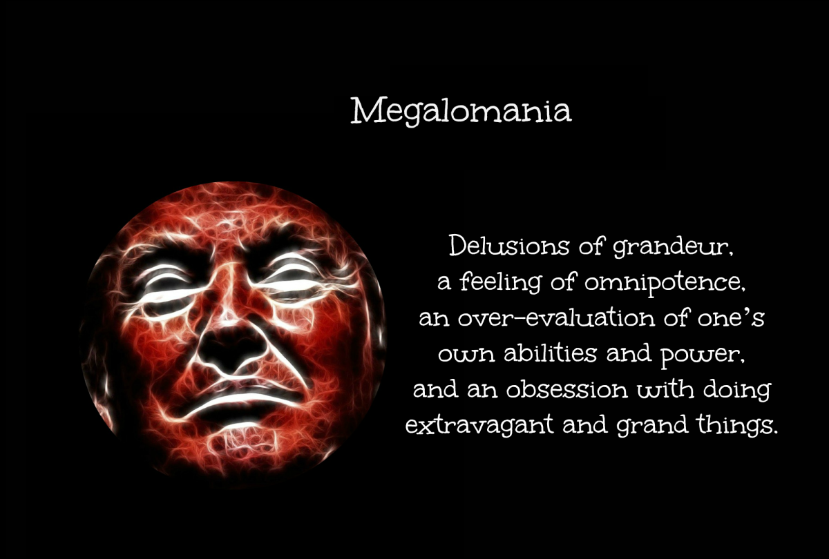 Delusions of grandeur and a feeling of omnipotence define megalomania.
