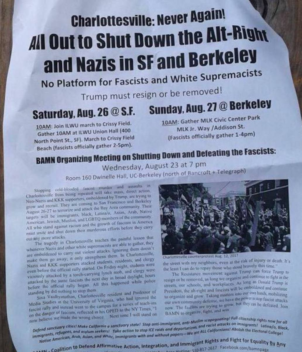 By Any Means Necessary flyer on San Francisco Freedom Rally event
