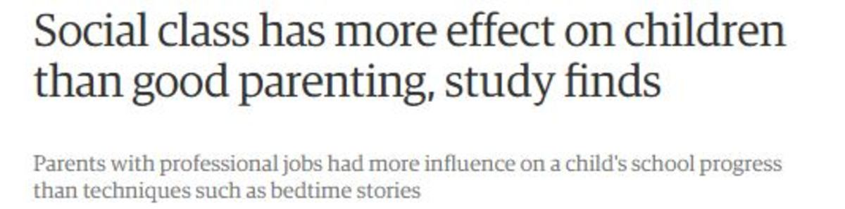 """Alice Sullivan, the main author of the study, said the research showed that """"while parenting is important, a policy focus on parenting alone is insufficient to tackle the impacts of social inequalities on children""""."""
