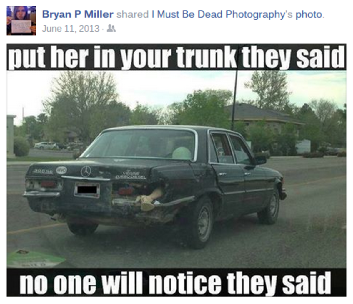 One of Bryan's unsettling Facebook posts