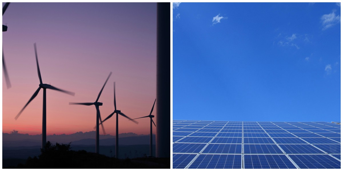 Windmills and solar panels can provide clean renewable energy and economic prosperity.