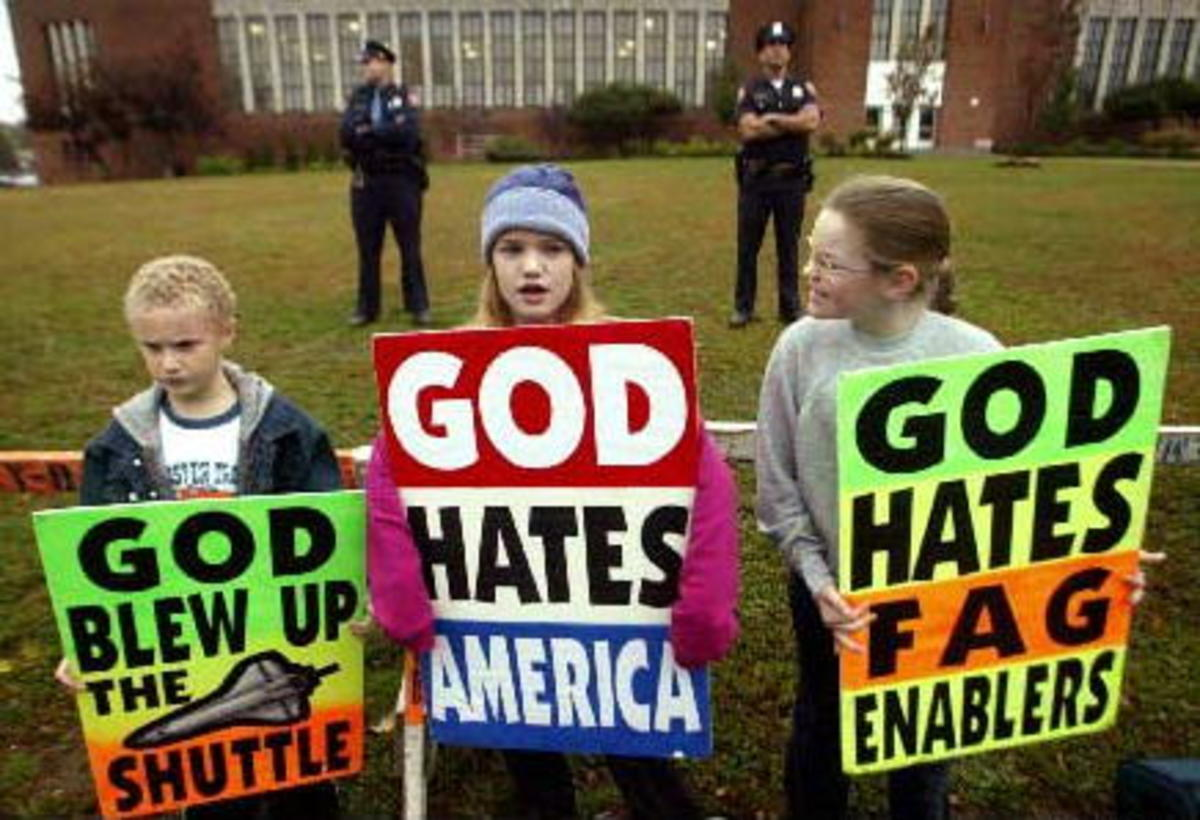 What would Jesus do? Teach children to hate? The moral leadership of the Westboro Baptist Church  in Topeka, Kansas.