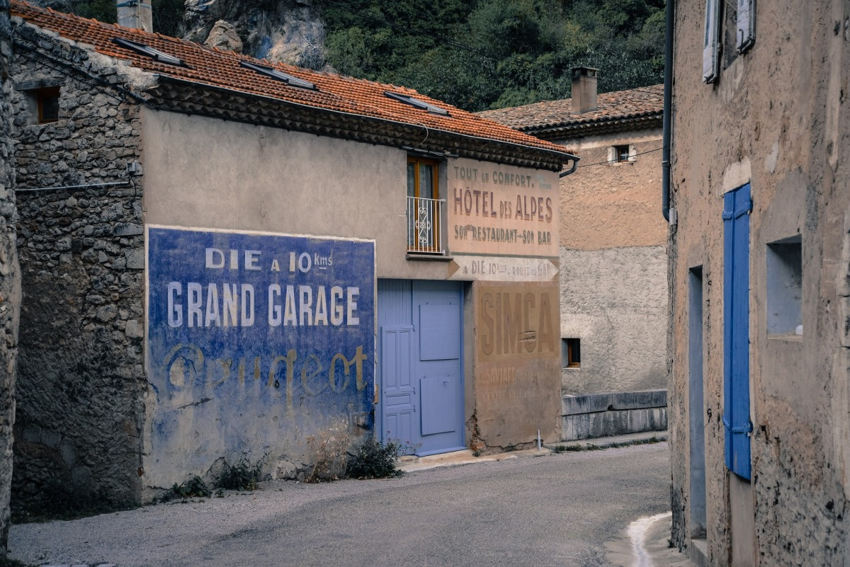 A typical French back street.