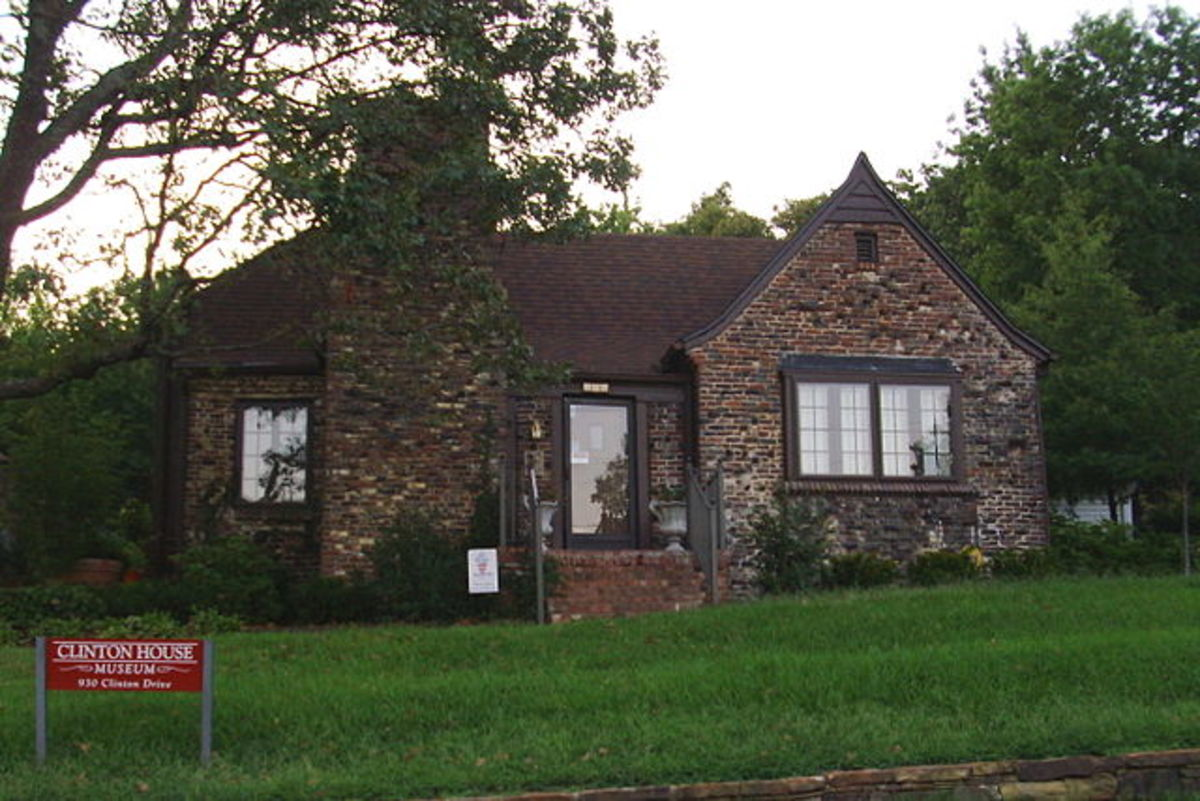 Bill and Hillary Clinton's first house in Fayetteville, Arkansas.
