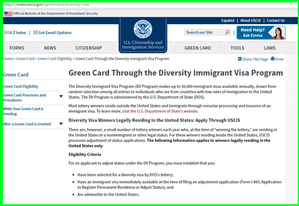 This is the right place to learn about the Green Card Diversity Lottery. Every other website charges you and takes advantage of you.