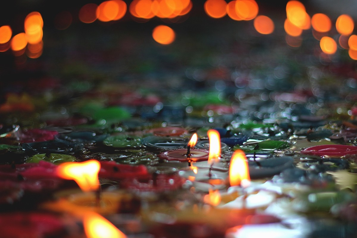 Light a candle for love and peace.