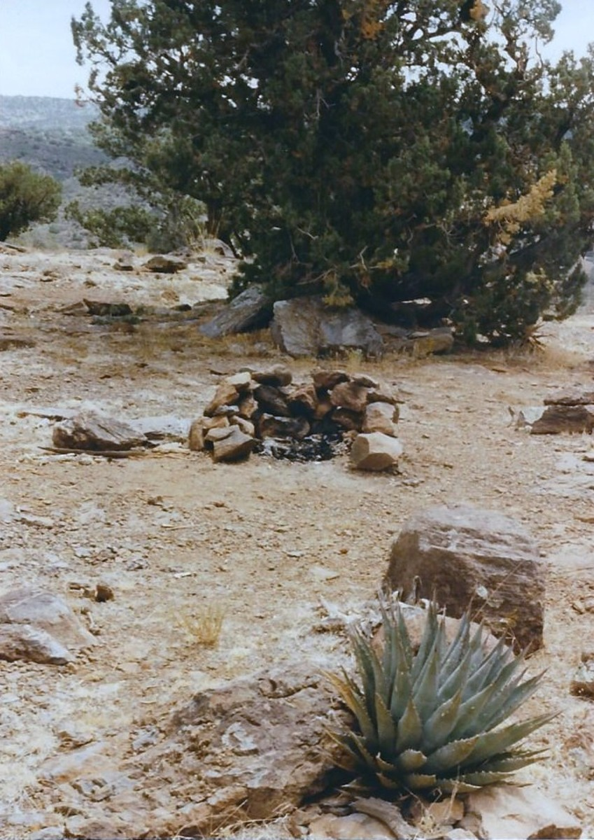 Fire pit approximately 20 miles from !-17 on Dugas Rd., in remote desert.