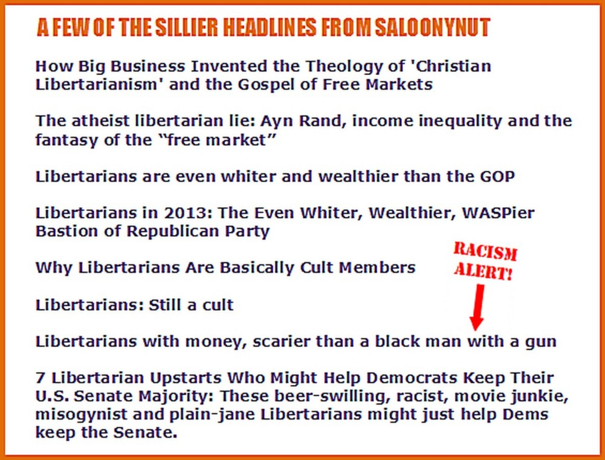 Wow! Simultaneous Christian and Atheist Libertarianism! And that's just the beginning of the SalonyNut silliness.